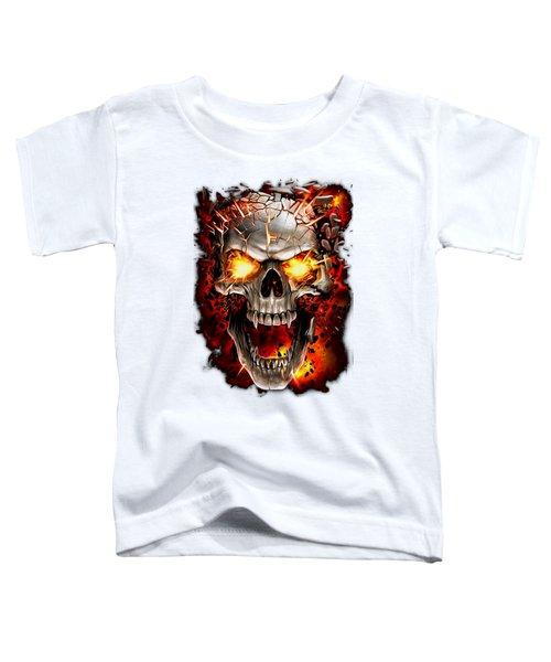 Skull Explosion Toddler T-Shirt