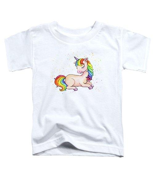 Sleeping Baby Rainbow Unicorn Toddler T-Shirt