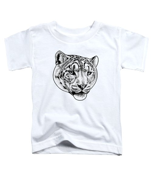 Snow Leopard - Ink Illustration Toddler T-Shirt