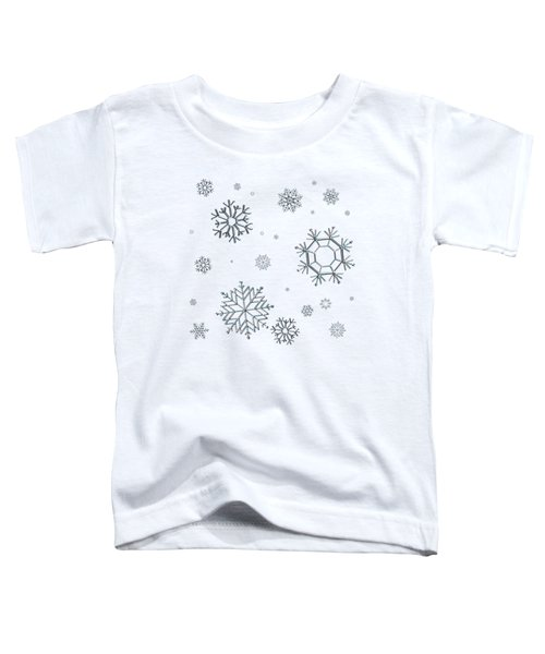 Snowflakes On Blue Toddler T-Shirt
