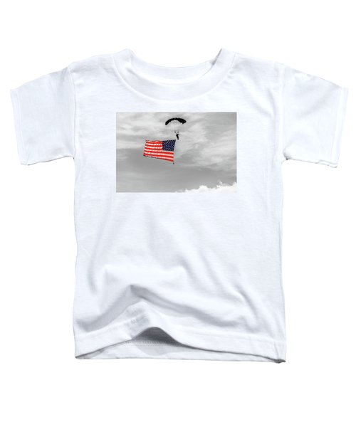 Socom Flag Jump In Selective Color Toddler T-Shirt