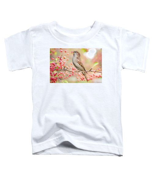 Sparrow Eating Berries Toddler T-Shirt