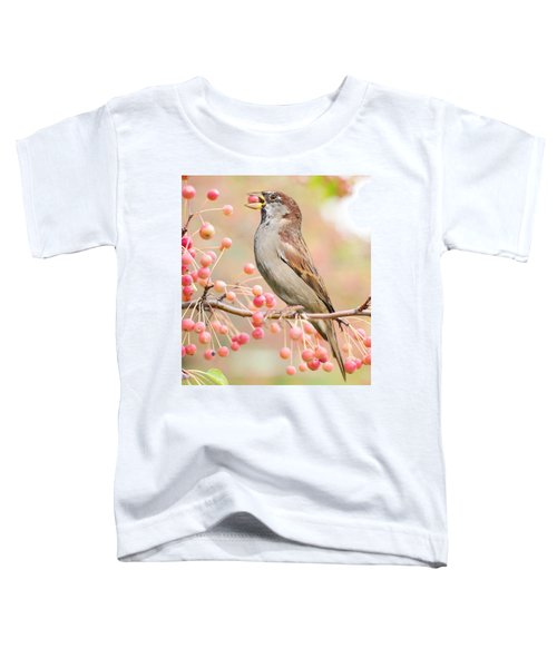 Sparrow Eating Berries Toddler T-Shirt