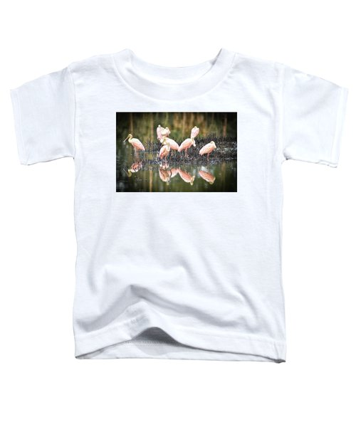 Spoonbill Reflection Toddler T-Shirt