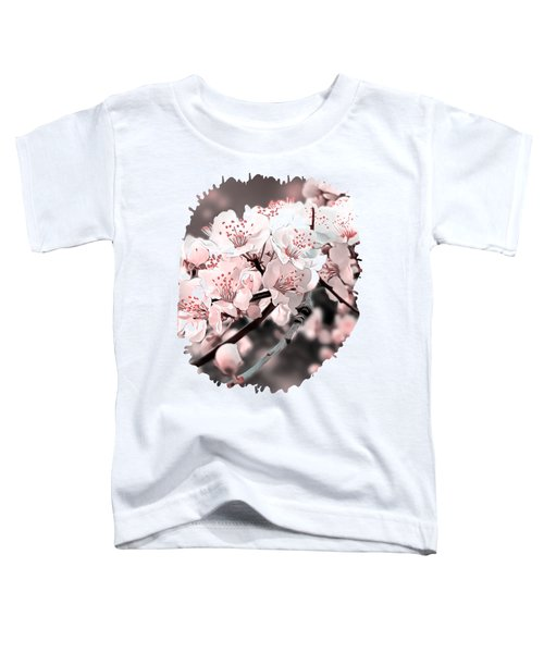 Spring Blossom Ornamental Illustration Pink Toddler T-Shirt
