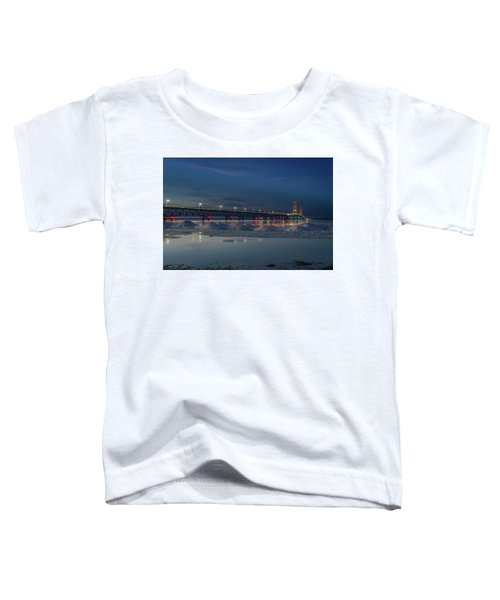 Spring Evening At The Mackinac Bridge Toddler T-Shirt
