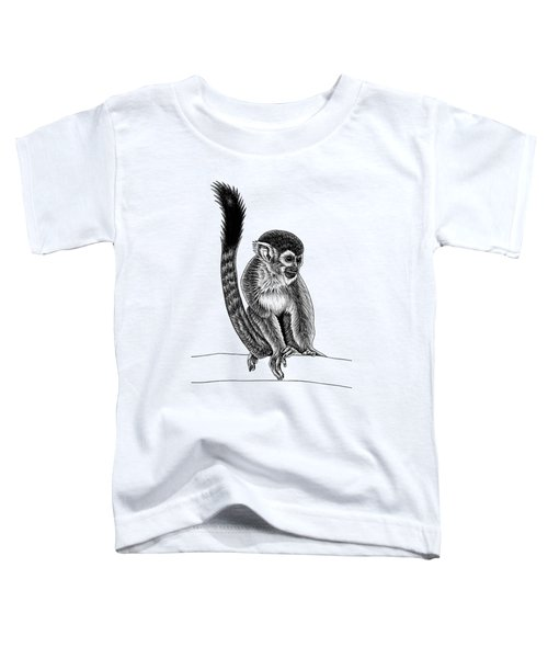 Squirrel Monkey - Ink Illustration Toddler T-Shirt