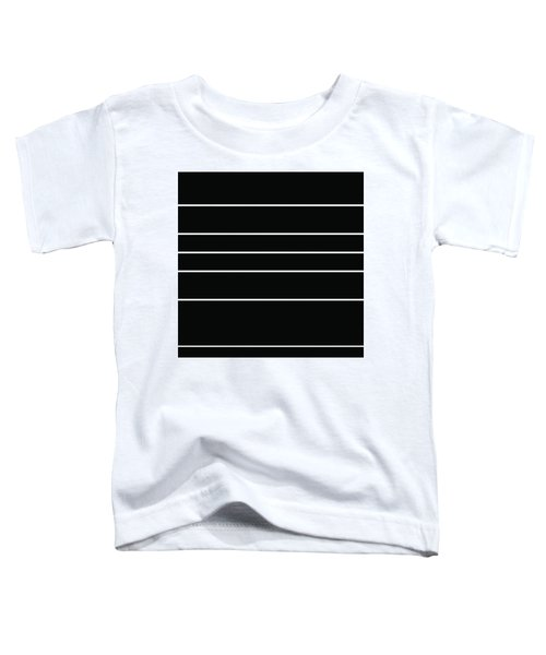 Stacked - Black And White Toddler T-Shirt