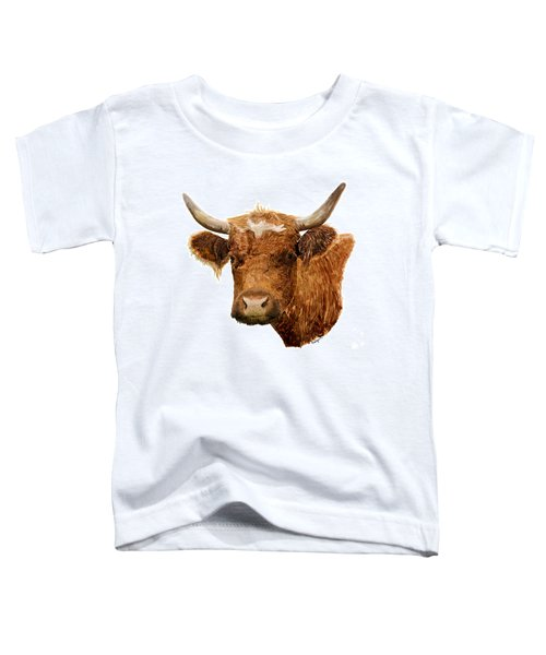Steer Portrait - Barnyard Bunch Collection Toddler T-Shirt