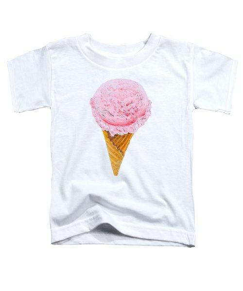 Strawberry Ice Cream Cone Toddler T-Shirt