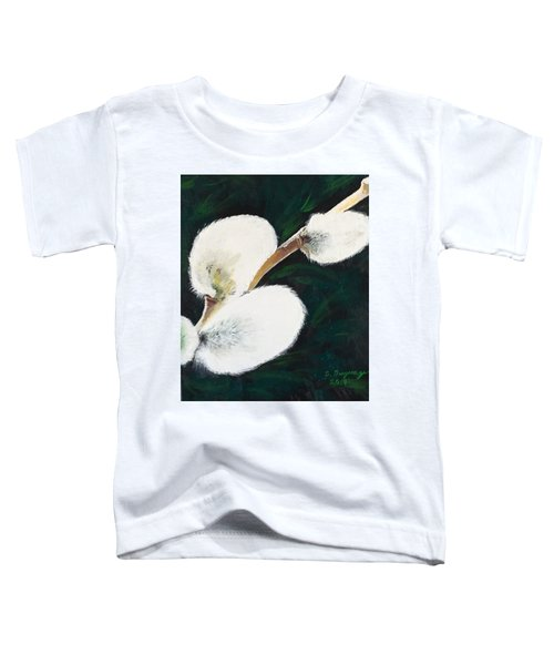 Sunlit Pussy Willow Toddler T-Shirt