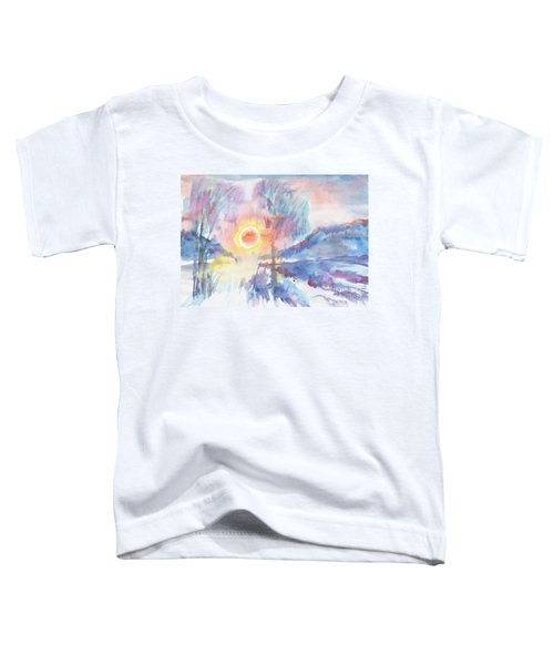 Sunny Winter Morning Toddler T-Shirt