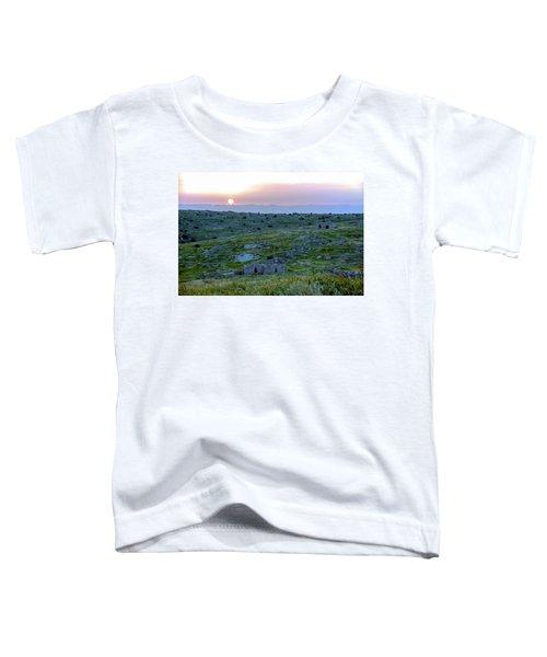Sunset Over Um A-shekef, Israel Toddler T-Shirt