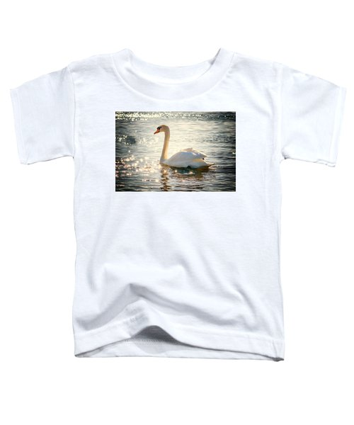 Swan On Golden Waters Toddler T-Shirt