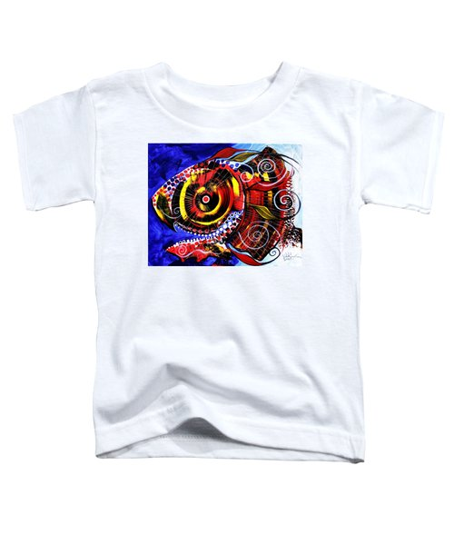 Swollen, Red Cavity Fish Toddler T-Shirt