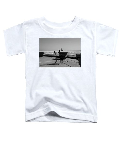 Table For One Bw Toddler T-Shirt