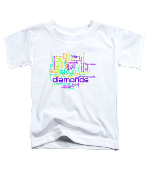 The Beatles - Lucy In The Sky With Diamonds Lyrical Cloud Toddler T-Shirt