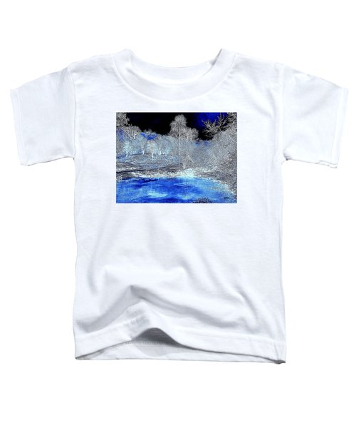 The  Pond In  Winter  -  Edit20-contest Toddler T-Shirt