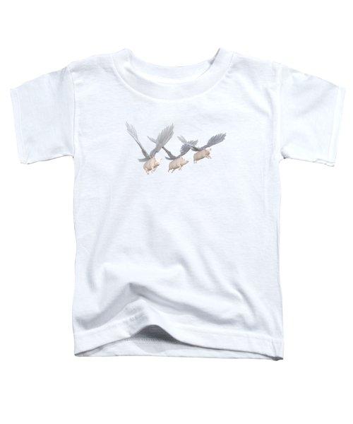 Three Little Pigs Transparent Toddler T-Shirt