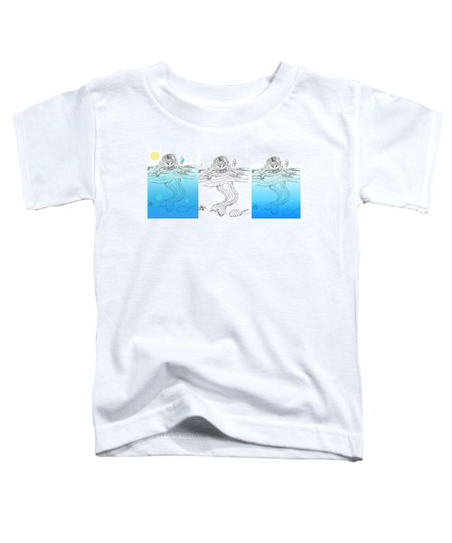 Three Mermaids All In A Row Toddler T-Shirt