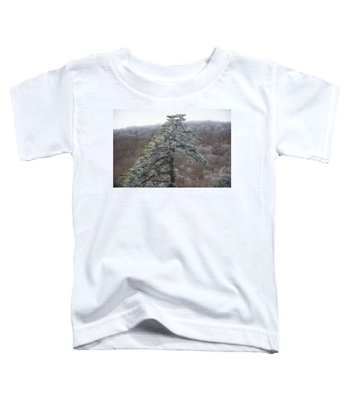 Tree With Hoarfrost Toddler T-Shirt
