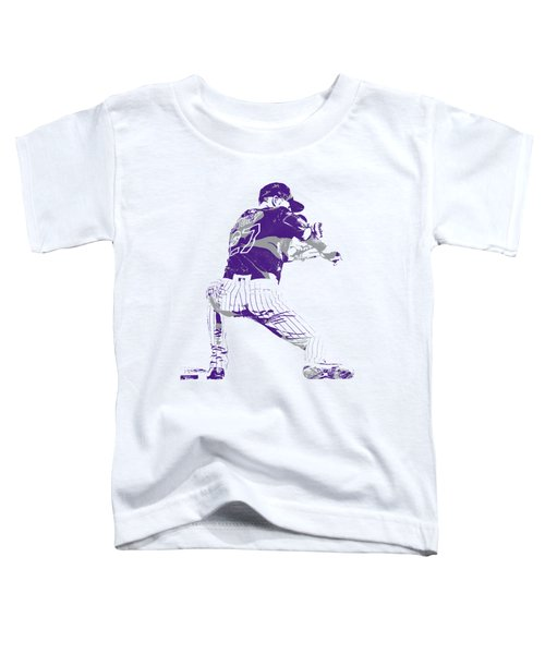 Trevor Story Colorado Rockies Pixel Art 15 Toddler T-Shirt