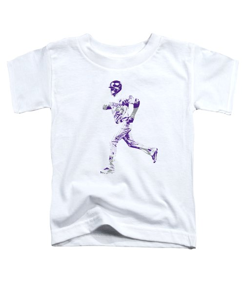 Trevor Story Colorado Rockies Pixel Art 3 Toddler T-Shirt