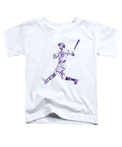 Trevor Story Colorado Rockies Pixel Art 9 Toddler T-Shirt