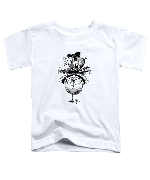 Turkey And Pig Toddler T-Shirt