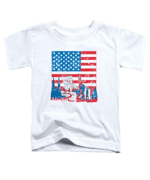 Usa New York  Vintage Design Toddler T-Shirt