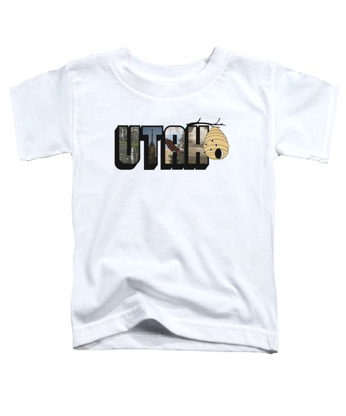 Utah The Beehive State Big Letter Toddler T-Shirt