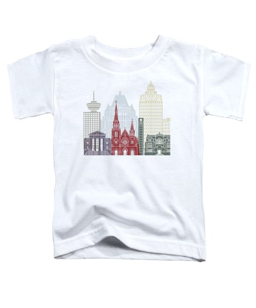 Vancouver V2 Skyline Poster Toddler T-Shirt
