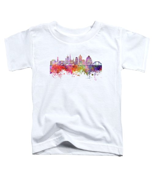 Vancouver V2 Skyline Watercolor Backgropund Toddler T-Shirt