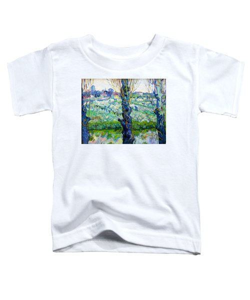 View Of Arles, Flowering Orchards - Digital Remastered Edition Toddler T-Shirt