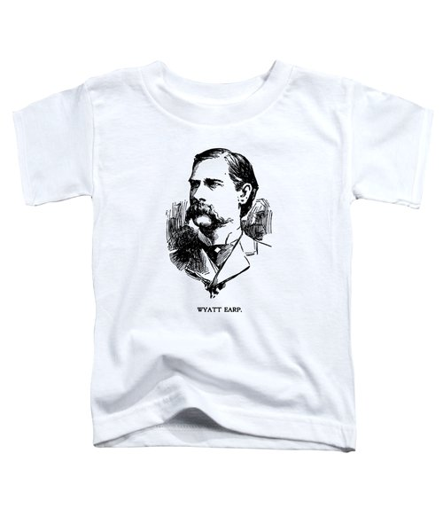 Vintage Newspaper Wyatt Earp Portrait 1896 - T-shirt Toddler T-Shirt