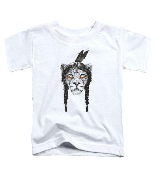 Warrior Lion Toddler T-Shirt