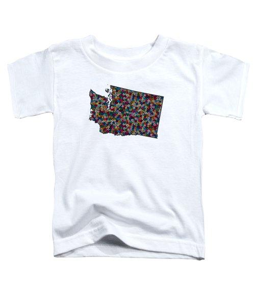 Washington Map - 2 Toddler T-Shirt