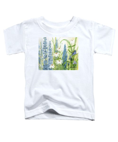 Watercolor Blue Flowers Toddler T-Shirt