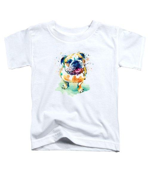 Watercolor Bulldog Toddler T-Shirt