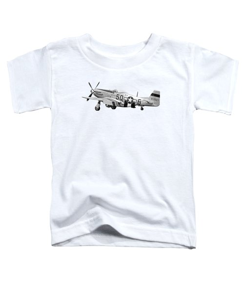 Well Earned Rest P-51 In Black And White Toddler T-Shirt
