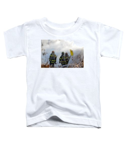 Toddler T-Shirt featuring the photograph We're Going In by Carl Young