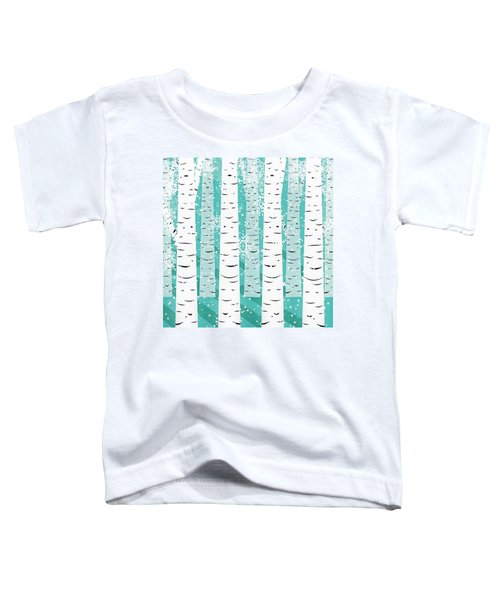White Birch And Snow Toddler T-Shirt
