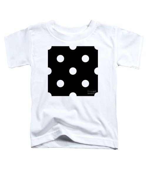 White Dots On A Black Background- Ddh612 Toddler T-Shirt