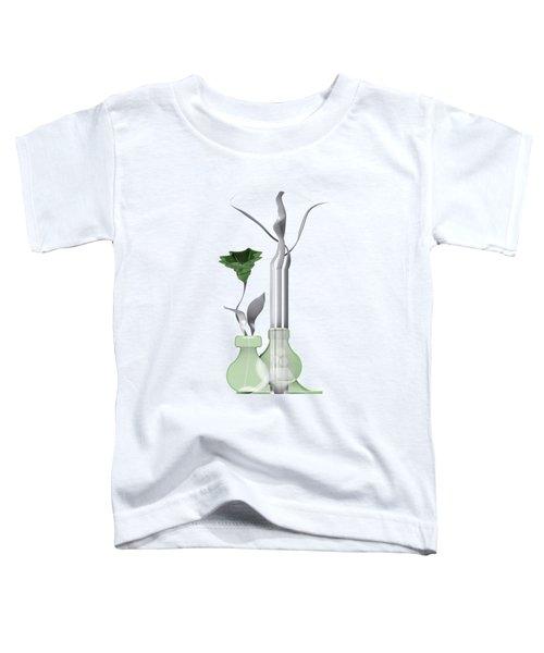 White Soft Stil Life With One Flower. Toddler T-Shirt