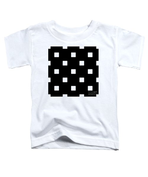 White Squares On A Black Background- Ddh576 Toddler T-Shirt