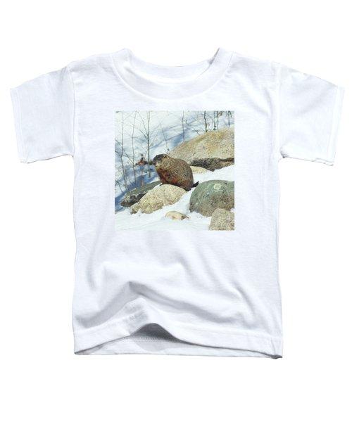 Winter Groundhog Toddler T-Shirt