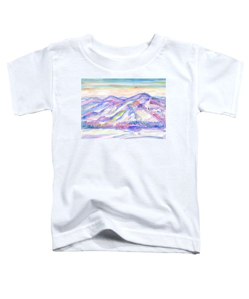 Winter Mountain Landscape Toddler T-Shirt