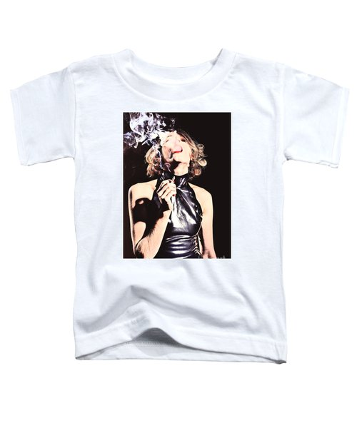Woman Smoking A Cigarette Toddler T-Shirt