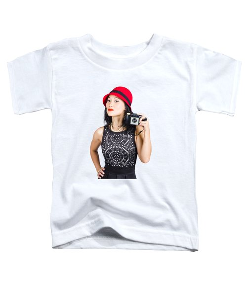 Woman With An Old Camera Toddler T-Shirt