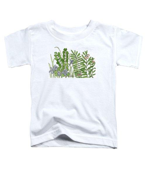 Woodland Ferns Violets Nature Illustration Toddler T-Shirt